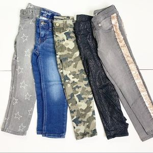 Lot of 5 Pairs of Stylish 4/4T Pants & Jeans